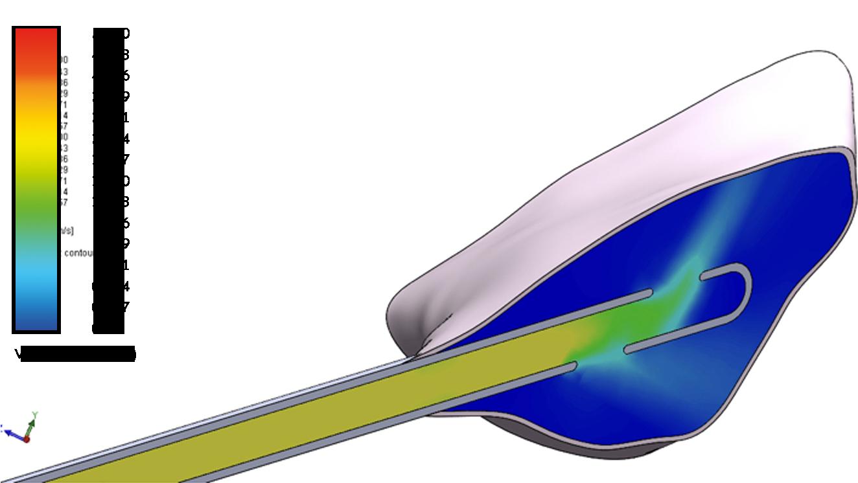 Velocità di estrusione omogena (doppio foro laterale)
