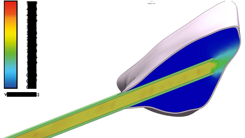 Velocità di estrusione omogena (foro singolo)